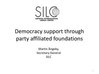 Democracy support through party affiliated foundations