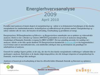 Energierhvervsanalyse