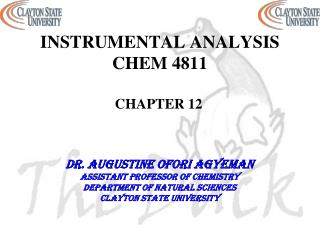 INSTRUMENTAL ANALYSIS CHEM 4811