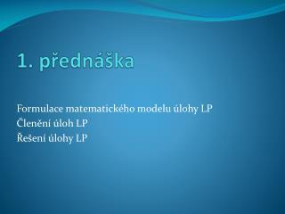 1 .  přednáška