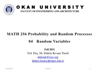 MATH 256 Probability and Random Processes