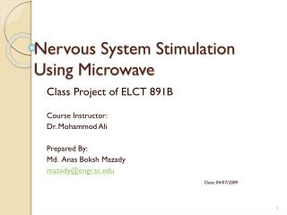 Nervous System Stimulation Using Microwave