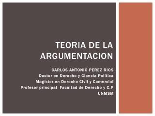 TEORIA DE LA ARGUMENTACION