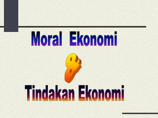 Moral  Ekonomi