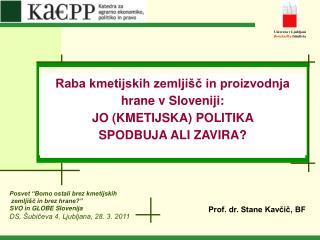 Prof. dr. Stane Kavčič, BF
