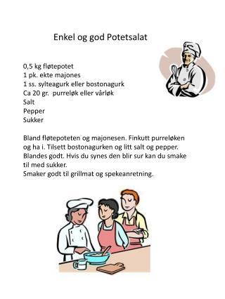 Enkel og god Potetsalat