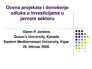 Ocena projekata i donošenje odluka o investicijama u javnom sektoru