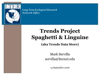 Trends Project Spaghetti & Linguine (aka Trends Data Store)