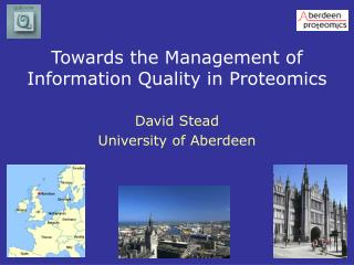Towards the Management of Information Quality in Proteomics