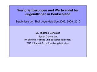 """Dr. Thomas Gensicke Senior Consultant im Bereich """"Familie und Bürgergesellschaft"""""""
