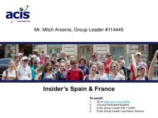 Mr. Mitch Arsenie, Group Leader #114445