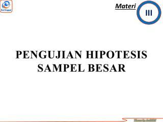 PENGUJIAN HIPOTESIS SAMPEL BESAR