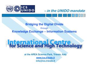 – in the UNIDO mandate