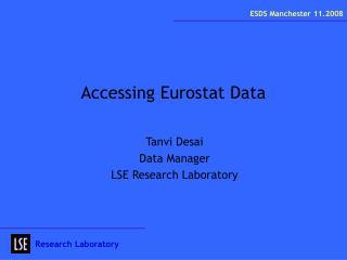 Accessing Eurostat Data