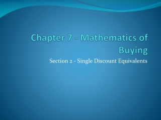 Ch 6 - Mathematics of Buying