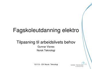 Fagskoleutdanning elektro