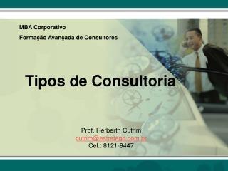 Tipos de Consultoria