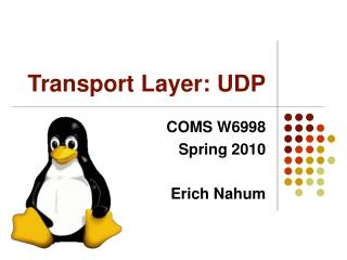 Transport Layer: UDP