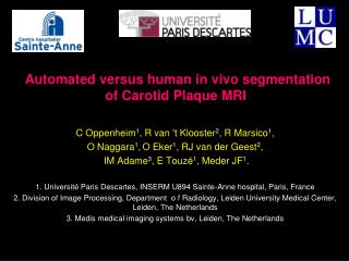 Automated versus human in vivo segmentation of Carotid Plaque MRI
