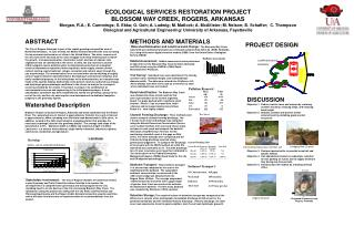 ECOLOGICAL SERVICES RESTORATION PROJECT   BLOSSOM WAY CREEK, ROGERS, ARKANSAS