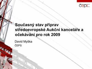 Současný stav příprav středoevropské Aukční kanceláře a očekávání pro rok 2009