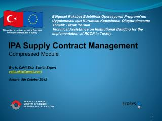 IPA Supply Contract Management