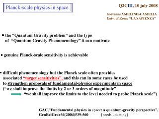 Q2C III , 10 july 2008