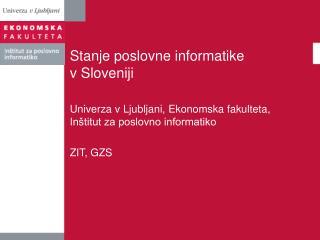 Stanje poslovne informatike v Sloveniji