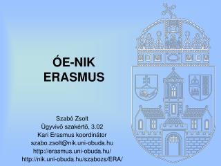 ÓE-NIK ERASMUS
