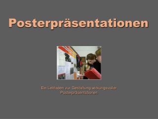 Posterpr sentationen