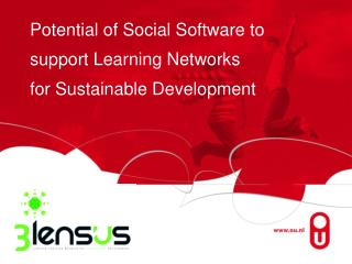 Potential of Social Software to support Learning Networks for Sustainable Development