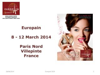 Europain 8 - 12 March 2014  Paris Nord Villepinte   France