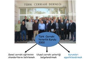 Türk  Cerrahi Yeterlik Kurulu 2000
