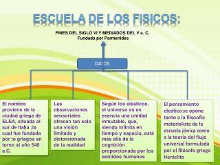 ESCUELA DE LOS FISICOS: