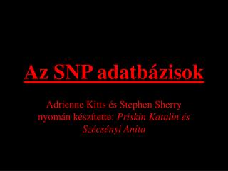 Az SNP adatb ázisok