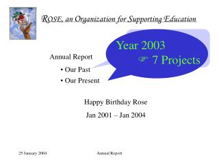 Year 2001    2 Projects