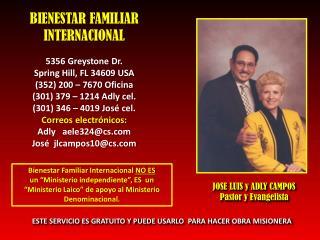 BIENESTAR FAMILIAR INTERNACIONAL