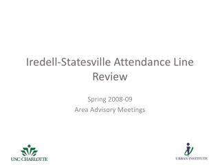 Iredell-Statesville Attendance Line Review