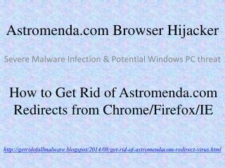 How to Remove Astromenda.com (Astromenda Search) from IE/FF/