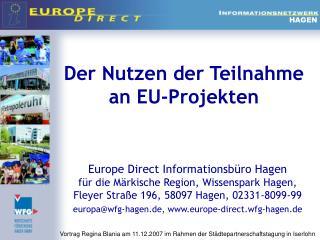Der Nutzen der Teilnahme an EU-Projekten