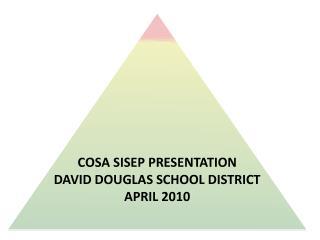 COSA SISEP Presentation David Douglas School District  April 2010