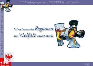 EU - Förderprogramme INTERREG und Achse LEADER und deren Relevanz für den Tourismus