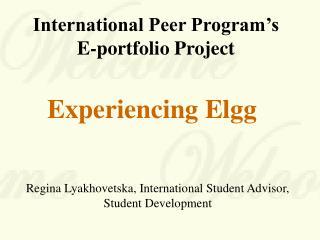 International Peer Program's  E-portfolio Project