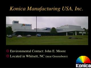 Konica Manufacturing USA, Inc.