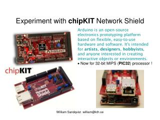 Experiment with  chipKIT  Network Shield
