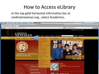 How to Access eLibrary