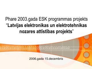 2006.gada 15.decembris