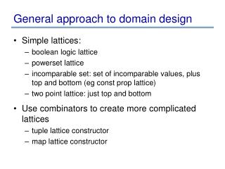 General approach to domain design