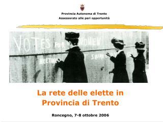 Provincia Autonoma di Trento Assessorato alle pari opportunità
