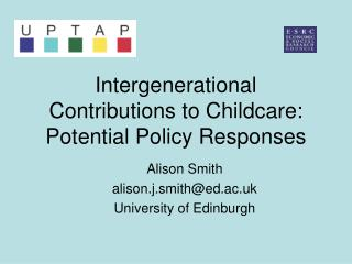 Intergenerational Contributions to Childcare:  Potential Policy Responses